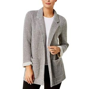 Style & Co French terry open front blazer, XL